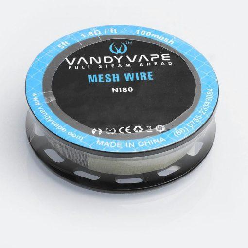 Vandy Vape N80 Mesh Wire 100mesh 1,8ohm/ft ellenálláshuzal