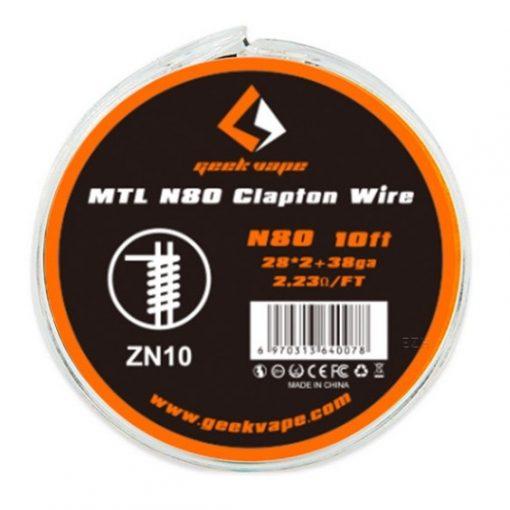 GeekVape N80 MTL Clapton 28GA*2+38GA ellenálláshuzal ZN10
