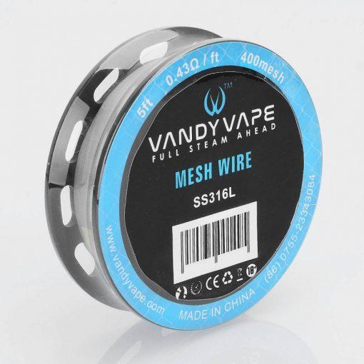 Vandy Vape SS316L Mesh Wire 400mesh 0,43ohm/ft ellenálláshuzal