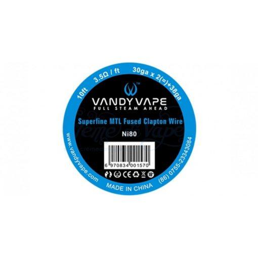 Vandy Vape Superfine MTL Fused Clapton Wire Ni80 3,5ohm/ft ellenálláshuzal